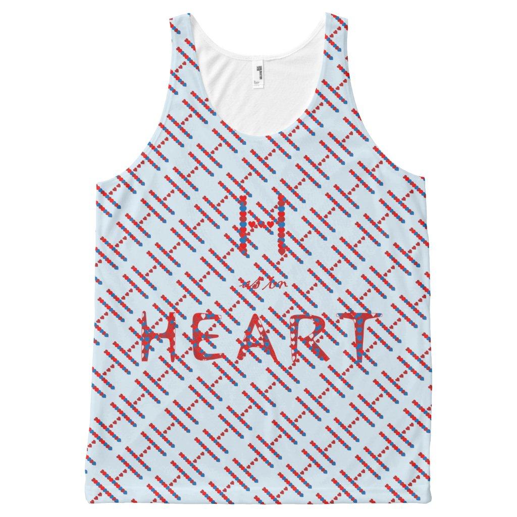 H as in Heart Unisex Tank Top