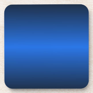 H Bi-Linear Gradient - Black and Blue Drink Coaster