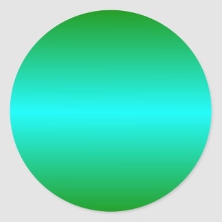 H Bi-Linear Gradient - Green and Cyan Classic Round Sticker