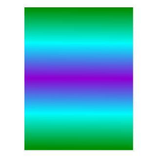H Bi-Linear Gradient - Green, Cyan, Violet Postcard