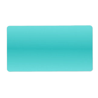 H Bi-Linear Gradient - Light Cyan and Turquoise Label
