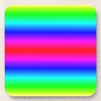 H Bi-Linear Gradient - Rainbow Beverage Coaster
