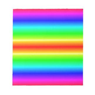 H Bi-Linear Gradient - Rainbow Notepad