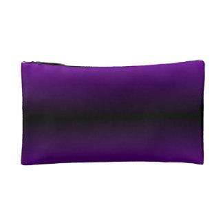 H Bi-Linear Gradient - Violet and Black Makeup Bag