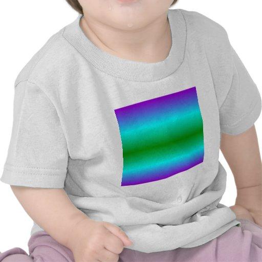 H Bi-Linear Gradient - Violet, Cyan, Green T Shirts