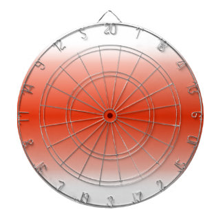 H Bi-Linear Gradient - White and Red Dart Board