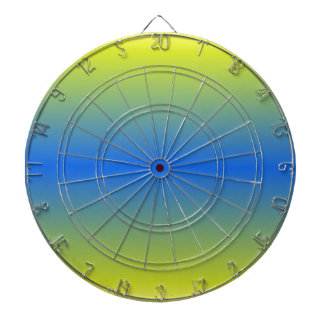 H Bi-Linear Gradient - Yellow to Blue Dartboard