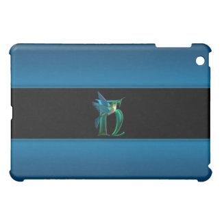 H Blue Hummingbird Monogram  Cover For The iPad Mini