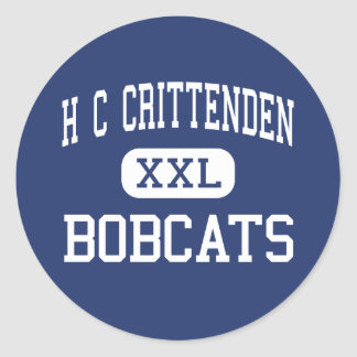 H C Crittenden Bobcats Middle Armonk Classic Round Sticker