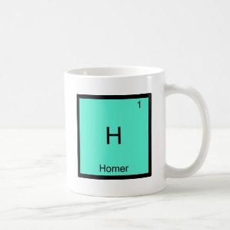 H - Camiseta divertida del símbolo del elemento de Taza Básica Blanca