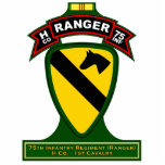 H Co, 75.o regimiento de infantería - guardabosque Escultura Fotografica