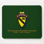 H Co, 75th Infantry - Rangers - 1st Cav - Vietnam Mouse Pad