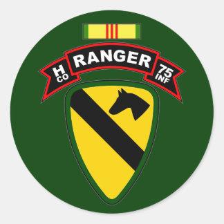 H Co, 75th Infantry Regiment - Rangers, Vietnam Classic Round Sticker