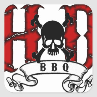 H&D BBQ Stickers
