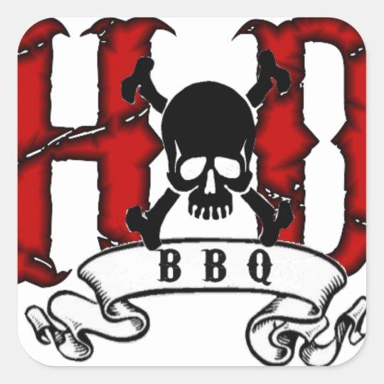 H&D BBQ Stickers
