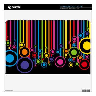 "H D rainbow colors as ribbons and circles 11"" MacBook Air Decal"