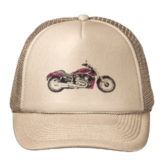H D WRSCAW V - Rod Hand Painted Art Brush Template Hats