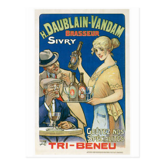 H. Daublain Vandam Sivry Vintage Beer Ad Art Postcard