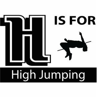 H está para el alto salto escultura fotografica