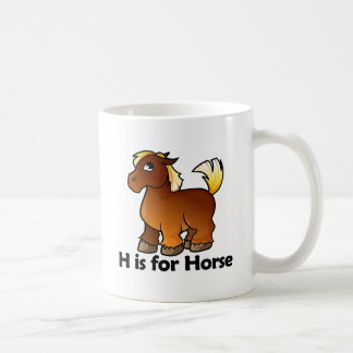 H está para el caballo tazas