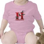 H está para el colibrí traje de bebé