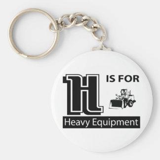 H está para el equipo pesado llaveros