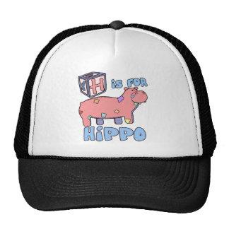 H está para el gorra del hipopótamo