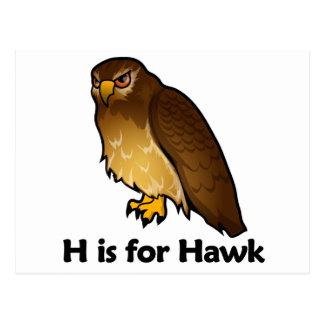 H está para el halcón tarjetas postales