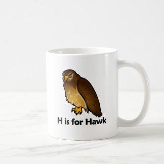 H está para el halcón taza
