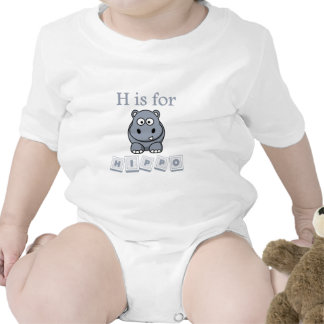 H está para el hipopótamo camisetas