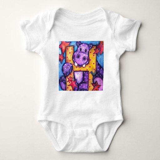 H está para el hipopótamo t-shirt