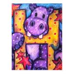 H está para el hipopótamo tarjetas postales
