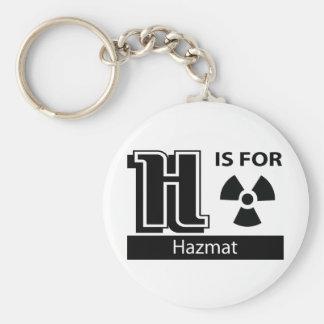 H está para Hazmat Llavero Personalizado