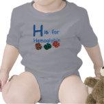 H está para la hemoglobina traje de bebé