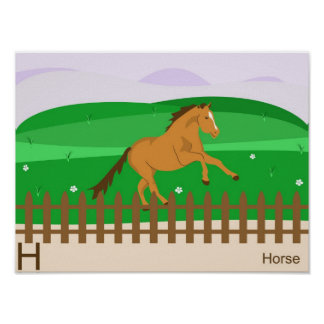 H for Horse Poster