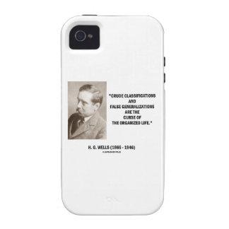 H.G. Vida falsa de la maldición de las Case-Mate iPhone 4 Fundas