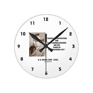 H.G. Vida falsa de la maldición de las Relojes