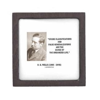 H.G. Wells Crude Classifications False Curse Life Premium Jewelry Box