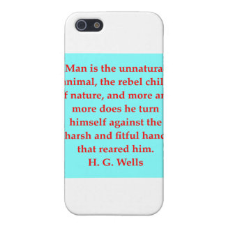 H. G. wells quote iPhone 5 Cases
