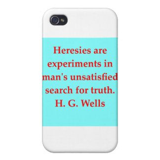 H. G. wells quote iPhone 4/4S Case