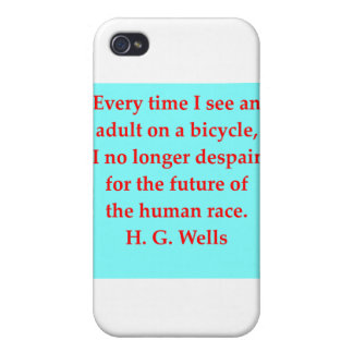 H. G. wells quote Covers For iPhone 4