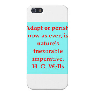 H. G. wells quote Case For iPhone 5