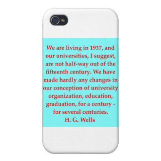 H. G. wells quote Case For iPhone 4