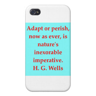 H. G. wells quote Cases For iPhone 4