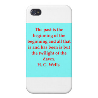 H. G. wells quote iPhone 4 Cases