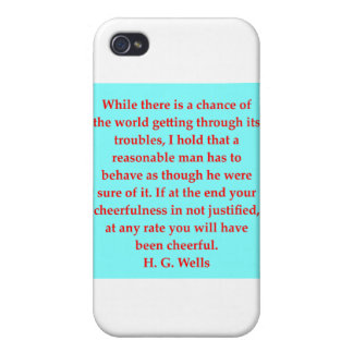 H. G. wells quote iPhone 4/4S Cases