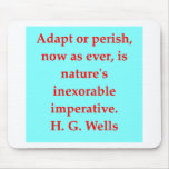 H. G. wells quote Mousepad
