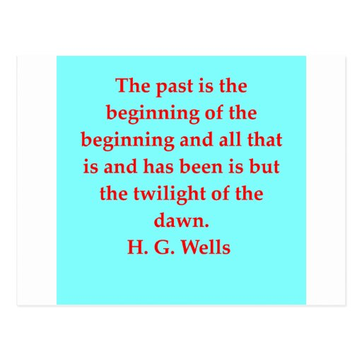 H. G. wells quote Postcard