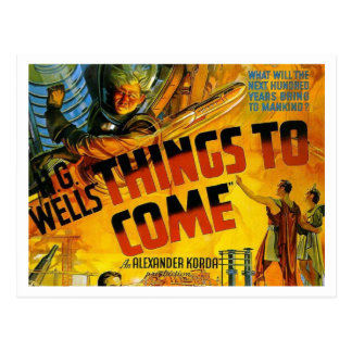 H G Wells Things To Come Postcard