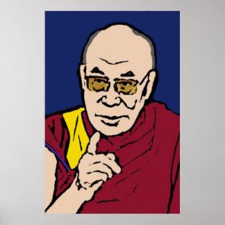 H.H. el poster 1 de Dalai Lama